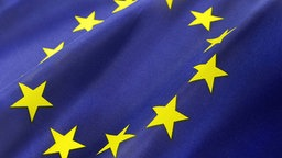 Europäische Flagge in Großaufnahme