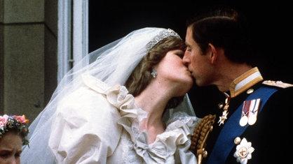 Charles und Diana bei ihrer Hochzeit