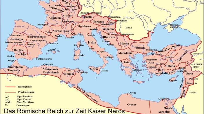 Römisches Reich Karte.Antikes Rom Römerstädte Antike Geschichte Planet Wissen