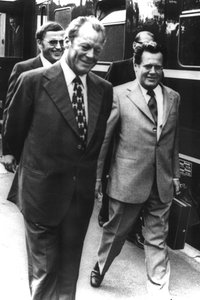 Willy Brandt und Günther Guillaume.