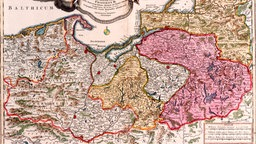 Karte von Preußen 1618