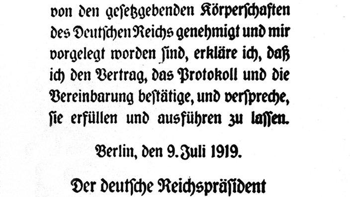 Weimarer Republik Deutschland Und Der Versailler Vertrag Deutsche