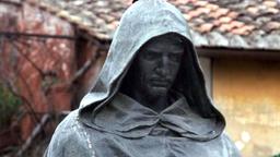 The bronze statue of Giordano Bruno in the Campo de Fiori in Rome