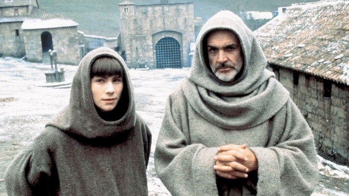 "Sean Connery und Christian Slater im Film ""Name der Rose"""
