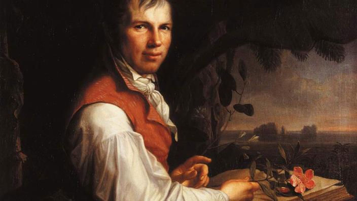 Alexander von Humboldt, porträtiert in einem Gemälde von Friedrich Georg Weitsch aus dem Jahre 1806.