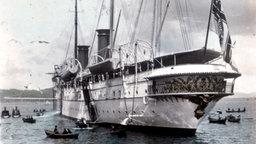 Die jacht Hohenzollern in Norwegen