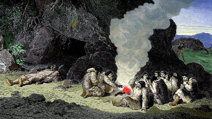 Durchschnittliche Größe eines Höhlenmenschen