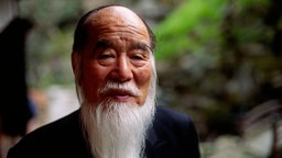 Ein alter japanischer Mann in Kyoto, Kinki, Japan