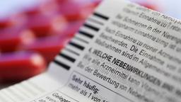 Ein Beipackzettel für Medikamente.