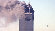 Das World Trade Center steht in Flammen