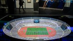 Miniatur des Olympiastadions in Rom.