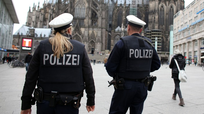 Polizeistreife in Köln