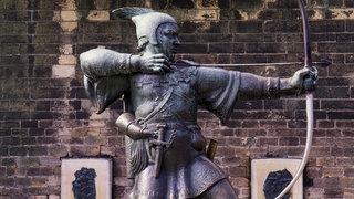 Statue von Robin Hood in Nottingham