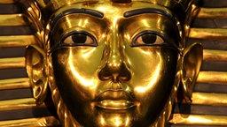 Die goldene Maske von Tutanchamun.