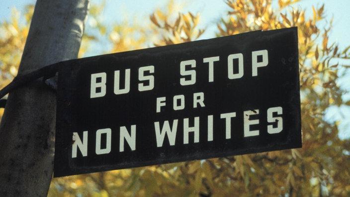 Rassentrennung Schilder