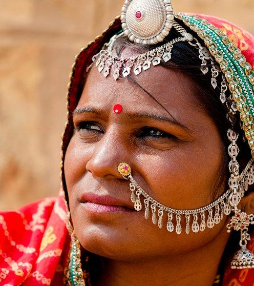 Fickende Geschichte der indischen Frau