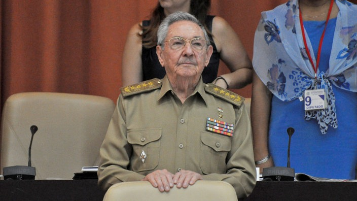Raúl Castro in Uniform.