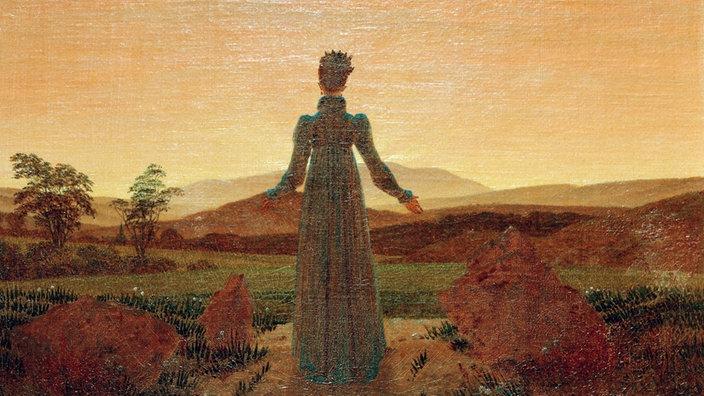 """pintura """"Mujer en el sol de la mañana"""" por Caspar David Friedrich"""