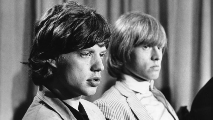 Mick Jagger und Brian Jones 1964.