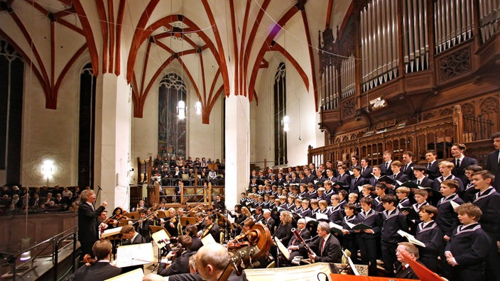 Thomaner singen Weihnachtsoratorium in der Thomaskirche in Leipzig