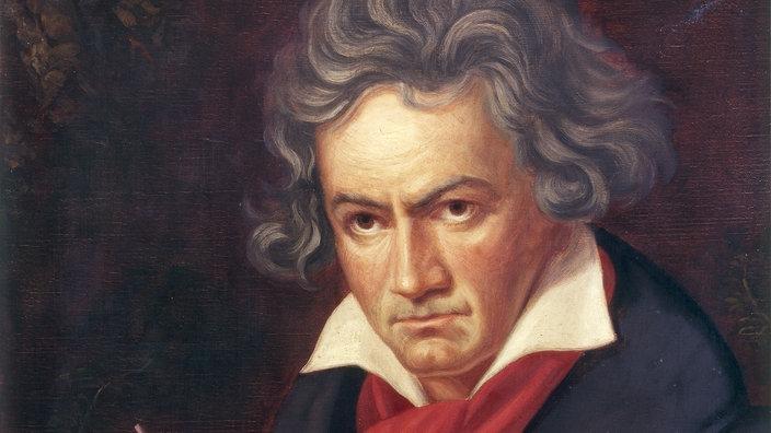 ein lgemlde zeigt den lteren beethoven beim komponieren - Beethoven Lebenslauf