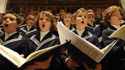 Der Leipziger Thomanerchor während einer Probe.