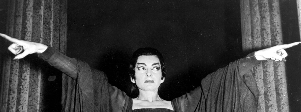 Die Opernsängerin Maria Callas als Medea in London.