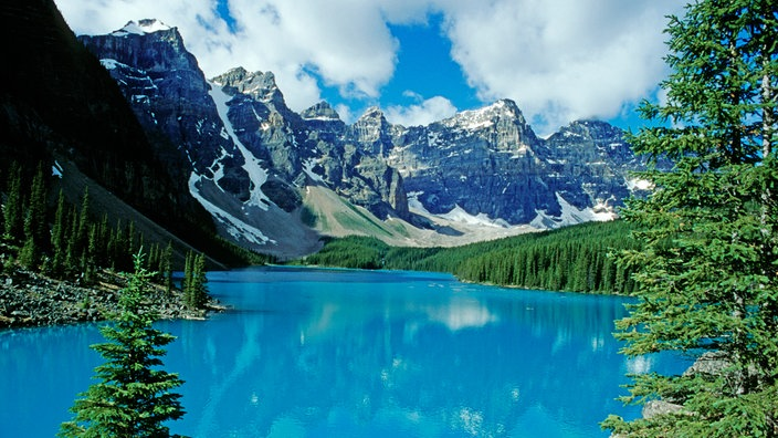 Moraine Lake, Banff National Park, Alberta, Kanada.