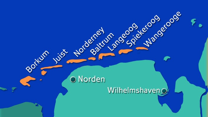 Juist Karte.Nordsee Ostfriesische Inseln Nordsee Kultur Planet Wissen