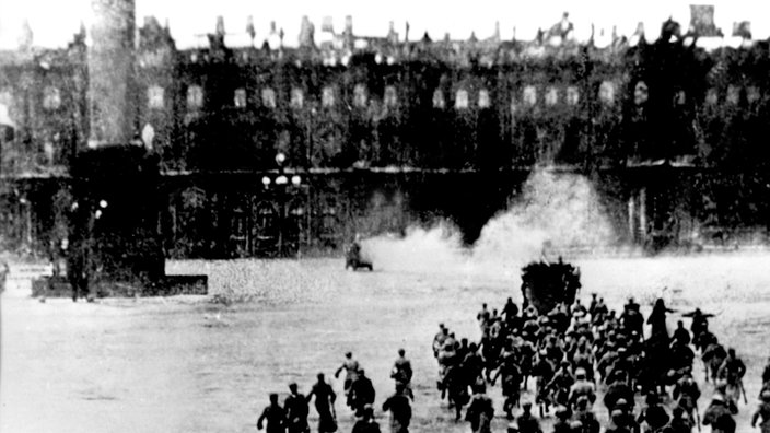 Sturm auf das Winterpalais in St. Petersburg am 7. November 1917