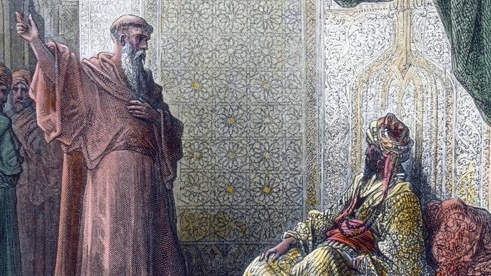 Gemälde: Franz von Assisi trifft den Sultan von Ägypten