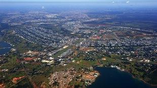 Luftaufnahme von Brasilia.