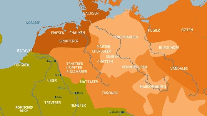 germanische stämme karte Völker: Germanische Stämme   Völker   Kultur   PlaWissen