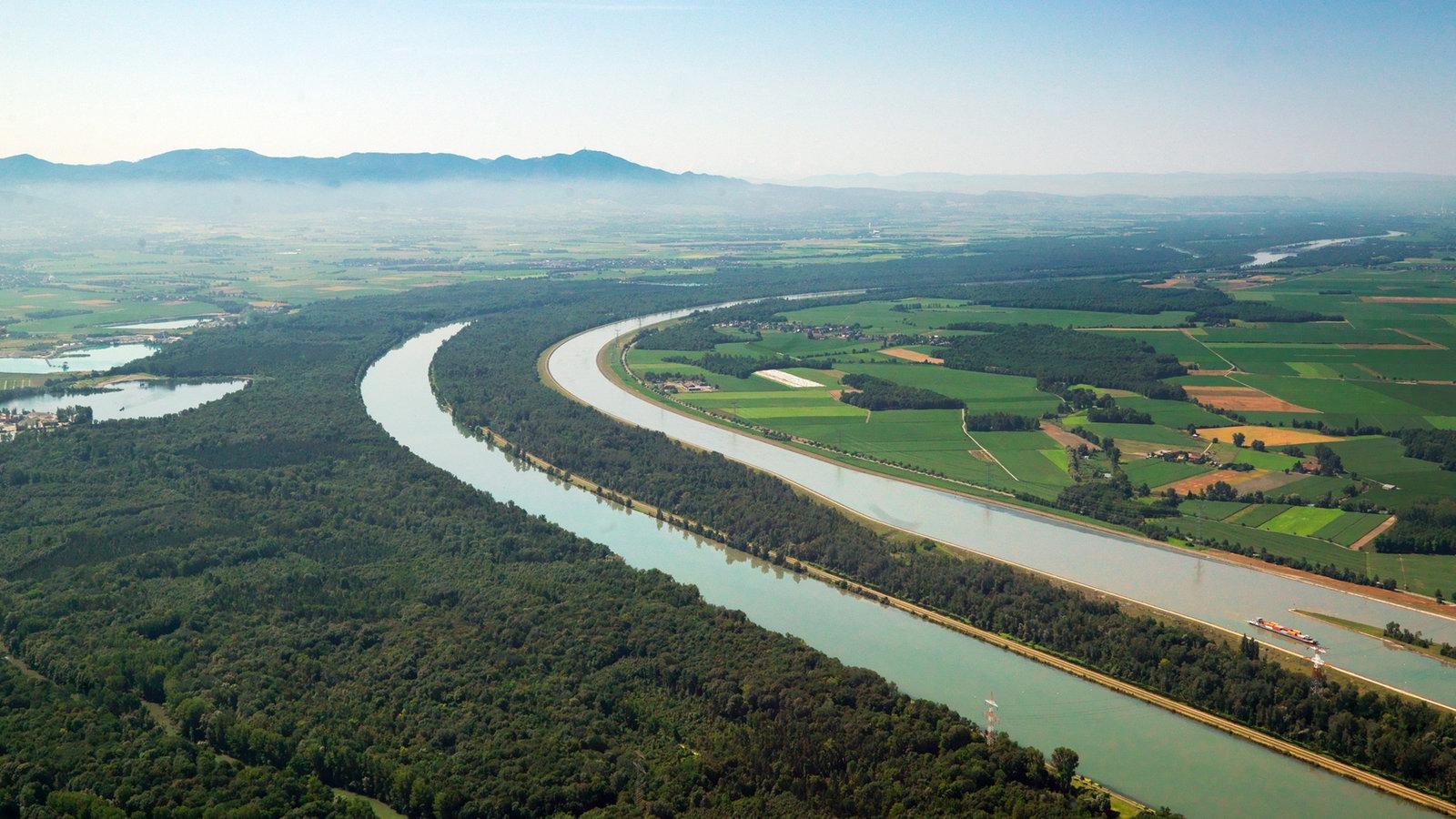 Rhein Begradigung