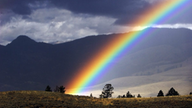 Regenbogen im Yellowstone Nationalpark.