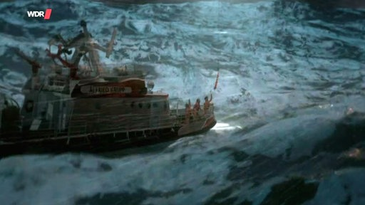 "Screenshot aus dem Film ""Seenotretter in Seenot"""