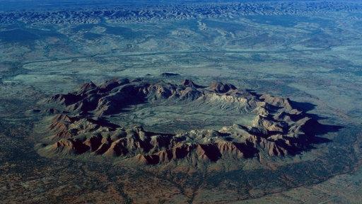 Der Impaktkrater aufgrund eines Meteoriteneinschlags in Gosses Bluff in Australien.