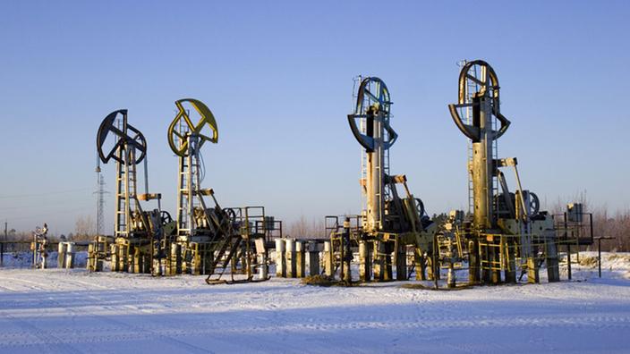 Bombas de perforación petrolera en Siberia.