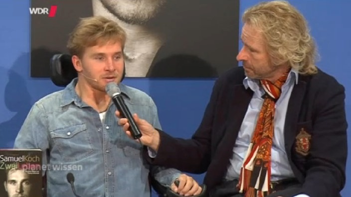 Thomas Gottschalk interviewt Samuel Koch.