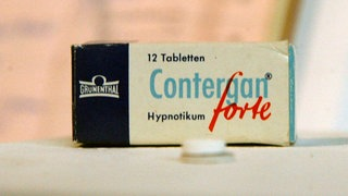 Eine Tablettenpackung Contergan.