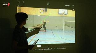Videoanalyse eines Bewegungsablaufs im Sportunterricht