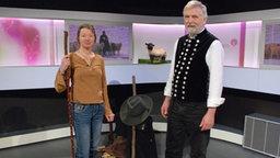 Wanderschäfer Günther Czerkus aus der Eifel und Ruth Häckh