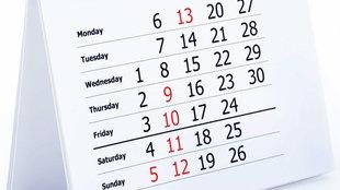 Kalenderblatt eines Tischkalenders.