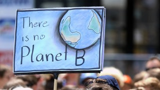 "Schild ""There is no Planet B""."
