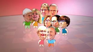 Collage von den Versuchsteilnehmern des Experiments.