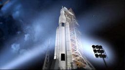 Raumschiff vor dem Start