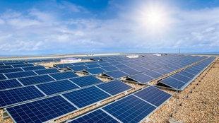 Photovoltaikanlage auf einem Flachdach