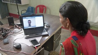 Video-Chat mit Arzt in Indien