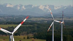 Windräder in Bayern