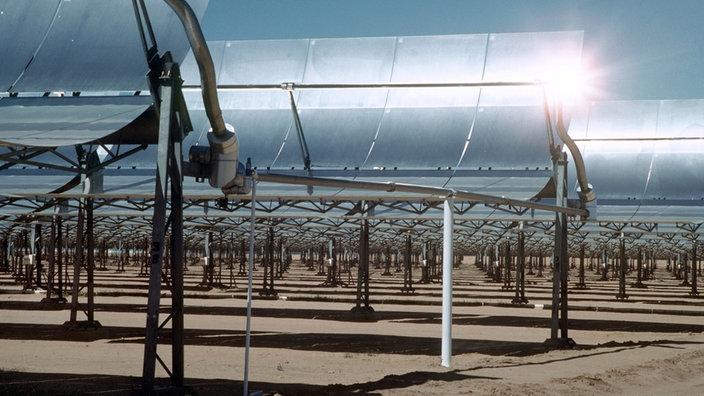 Солнечная тепловая электростанция в пустыне Мохаве в Калифорнии